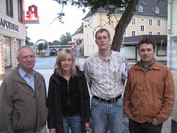 von links Robert Fischer, Mareille Pieper, Michael Meixner und Artur Stark