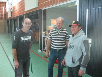Reiner Prieß (von links), Günter Donath und Gerhard Otte