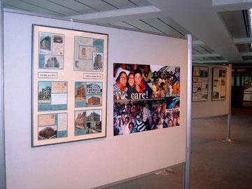Ausstellungstafeln aus der Briefmarkensammlung von Eckard Geisler