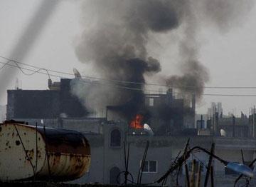Angreb på mediecentret i Homs