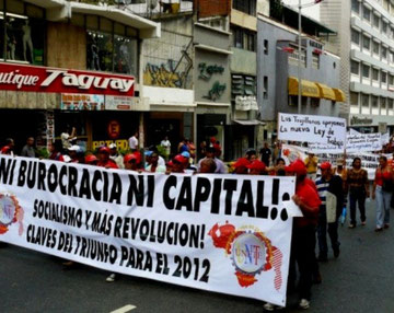 Venezuelas sociale bevægelser demonstrerer i Caracas