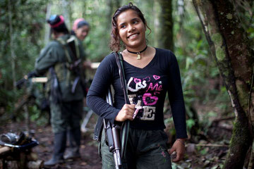 FARC guerilla-fighters