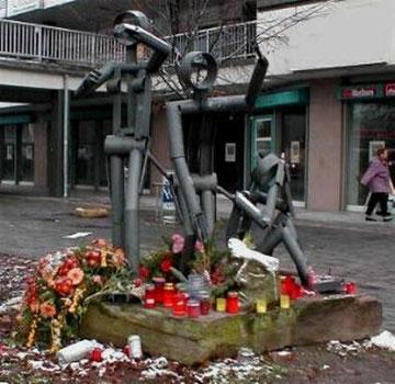 Minde-skulptur for Conny Wessmann