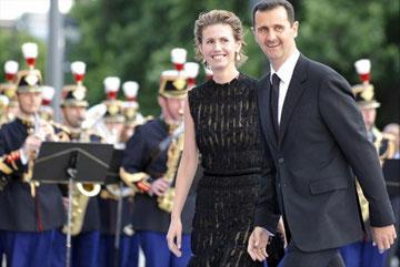 Asma og Bashar Hafez al-Assad