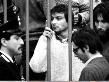 Cesare Battisti i fængsel i 1981 før hans vellykkede flugt
