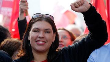 Fagforeningsleder Bárbara Figueroa