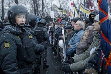 Protester mod Putin i Moskva