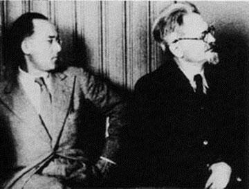 Erwin Wolf sammen med Leon Trotski i Norge