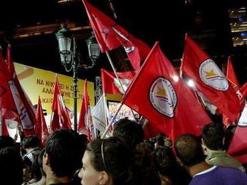 SYRIZAs valgkampmøde i Athen