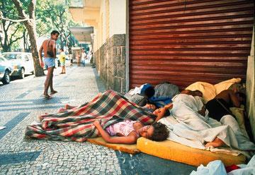 Gadebørn i Rio de Janeiro