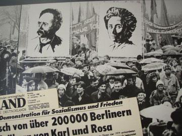 Mindedemo for Rosa Luxemburg og Karl Liebknecht i Østberlin i 1950'erne