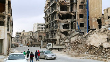 De fleste syriske byer er i en desolat tilstand efter Assad regimets årelange bombetogter
