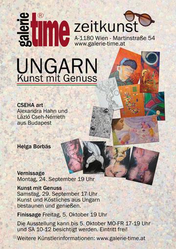Galerie Time Ausstellung Ungarn mit Alexandra Hahn, László Cszeh-Németh, Helga Borbás