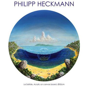 Hans Theurer liest aus dem neuesten Werk des Malers und Autors, Philipp Heckmann.
