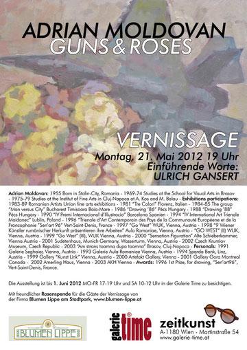 Galerie Time Vernissage und Ausstellung Adrian Moldovan - Guns & Roses