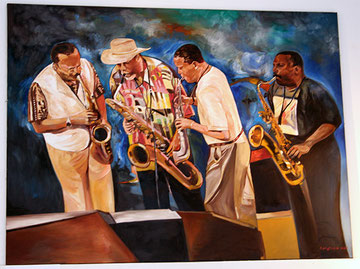 """Galerie Time Bild """"Jazzszene"""" von Eddy Raza"""