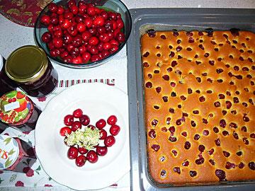 kirschmarmelade und kirschkuchen