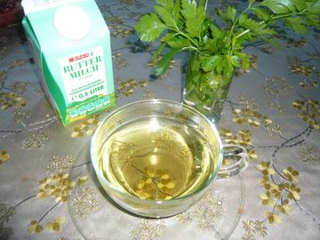 petersilientee und buttermilch
