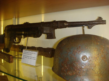 The weapon and tools of the German defense on display