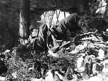 Dead German soldier in Sigolsheim