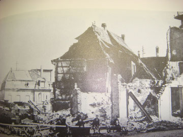 Selestat, Rue du President Poincare 1944. Check out the knocked out M4 Sherman on the left