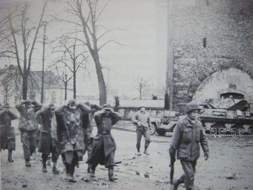 German POW's walk through Selestat
