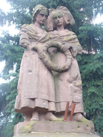 """The statue known as """"Monument aux morts dit Monument de la Fidélité à Bennwihr"""" today June 2013"""