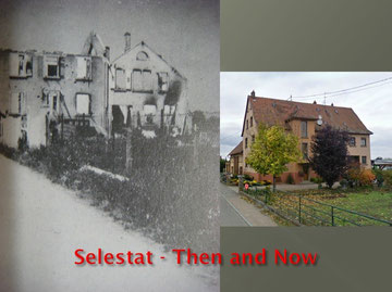 House of Henri Sengler Rue du Schlunck Selestat 1944 - Then and Now