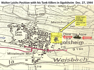 Walter Laichs ambush position armed with a Panzerfaust