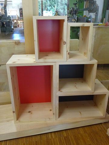 Arvenenbox, Arvenbüchergestell