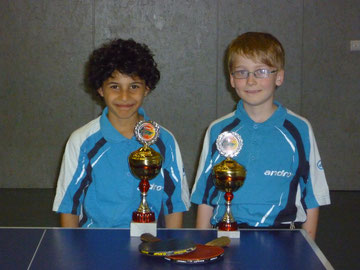 von links: Malik Atakan (1. Platz) und Luca Hemmkeppler (4. Platz)