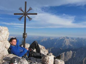 Chrissi enjoying the summit.
