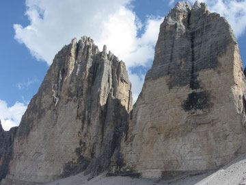 Cima Grande and Cima Ovest di Lavaredo. Impressive North Faces!