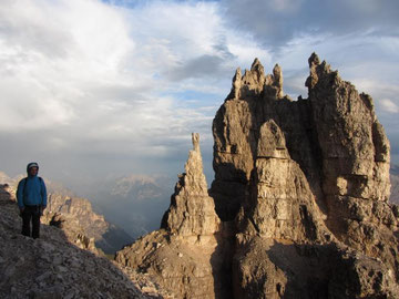 """After the thunderstorm on the """"Ringband"""" of Cima Ovest."""