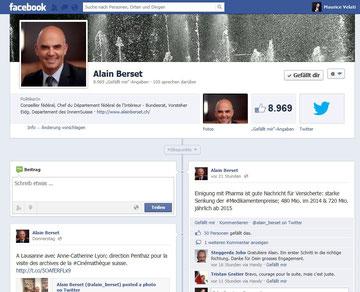 Facebook-Profil Alain Berset