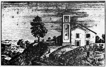 S. Giovanni Battista di Livergnano in un incisione del periodo