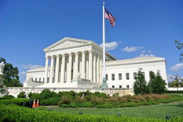 Außenansicht des amerikanischen Höchstgerichts, des U.S. Supreme Court