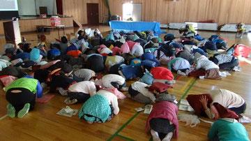 栗原小学校4年生 身体を守る行動訓練