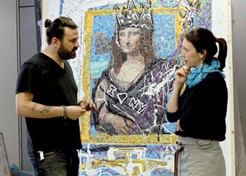 Domingo Zapata insieme a Arianna Gallo, di Koko Mosaico. Foto Marco Miccoli