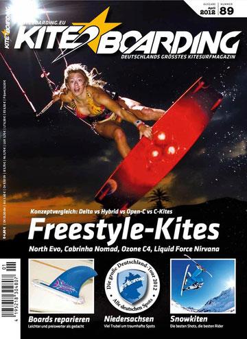 Kiteboarding.de 01 / 2012 mit Ozone