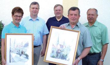SR Swoboda und HOL Hak mit Schulausschuss- Obmann Rosenkranz, Direktor Schaffer und GGR Dirnberger