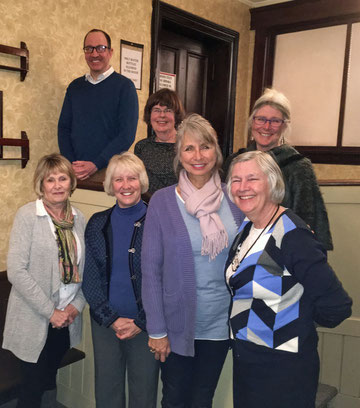 Pictured here (clockwise from top left) Bob Scheifele (Treasurer), Marion McDougall (Director-at-Large), Colleen Purdon (Chair), Shawna Macivor (Secretary), Lynda Montgomery, Jackie Mersich, and Sydney Misener (all three Directors-at-Large).