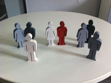 Organisationsaufstellung mit Figuren
