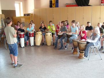Drumcircle in der Klasse 4b