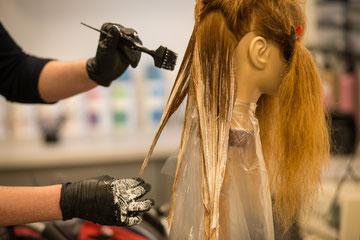 Salon-Haar-Auszubildende
