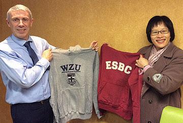 M. Patural (Directeur ESBC) et Mme Chen (Directrice Wenzao)