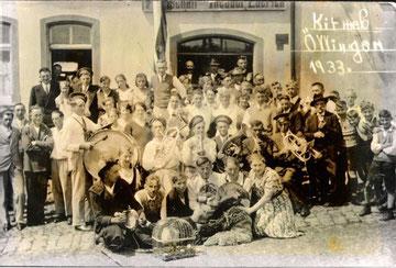 Blasmusik  1933 auf der Oellinger Kirmes