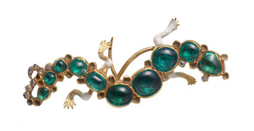 Fig. 2. Salamander Brooch. Length ca. 4cm. Courtesy: Museum of London.