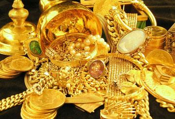 Allerlei Gold als Goldschmuck, Goldmünzen, Goldmedaillen & Altgold !