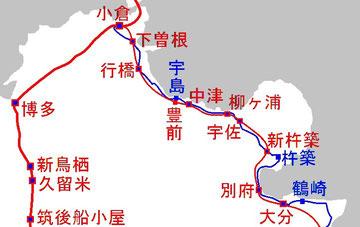 日豊本線のバイパス線のルート案